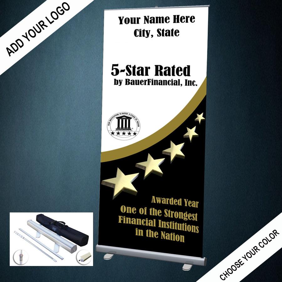 5 STAR RETRACTABLE BANNER