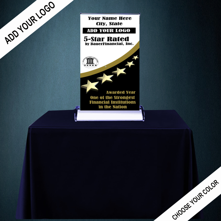 5STAR TABLE TOP RETRACTABLE BANNER