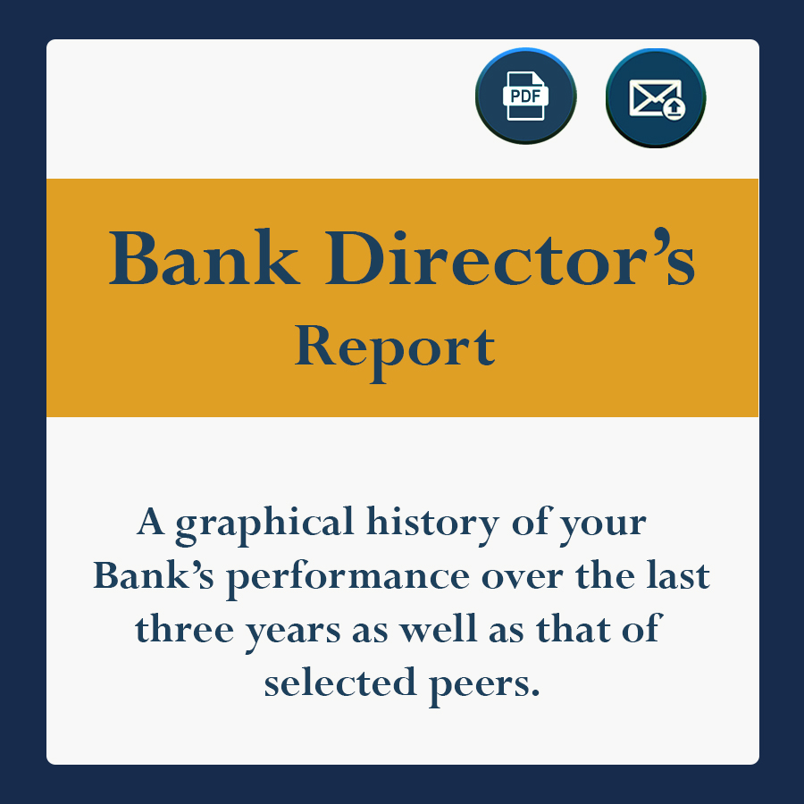 A graphical history of your bank's performace over the last three years, as well as that of selected peers.