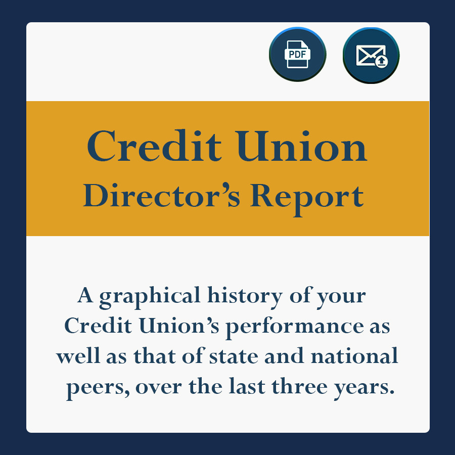 A graphical history of ytour Credit Union's performance as well as that of state and national peers over the last three years.