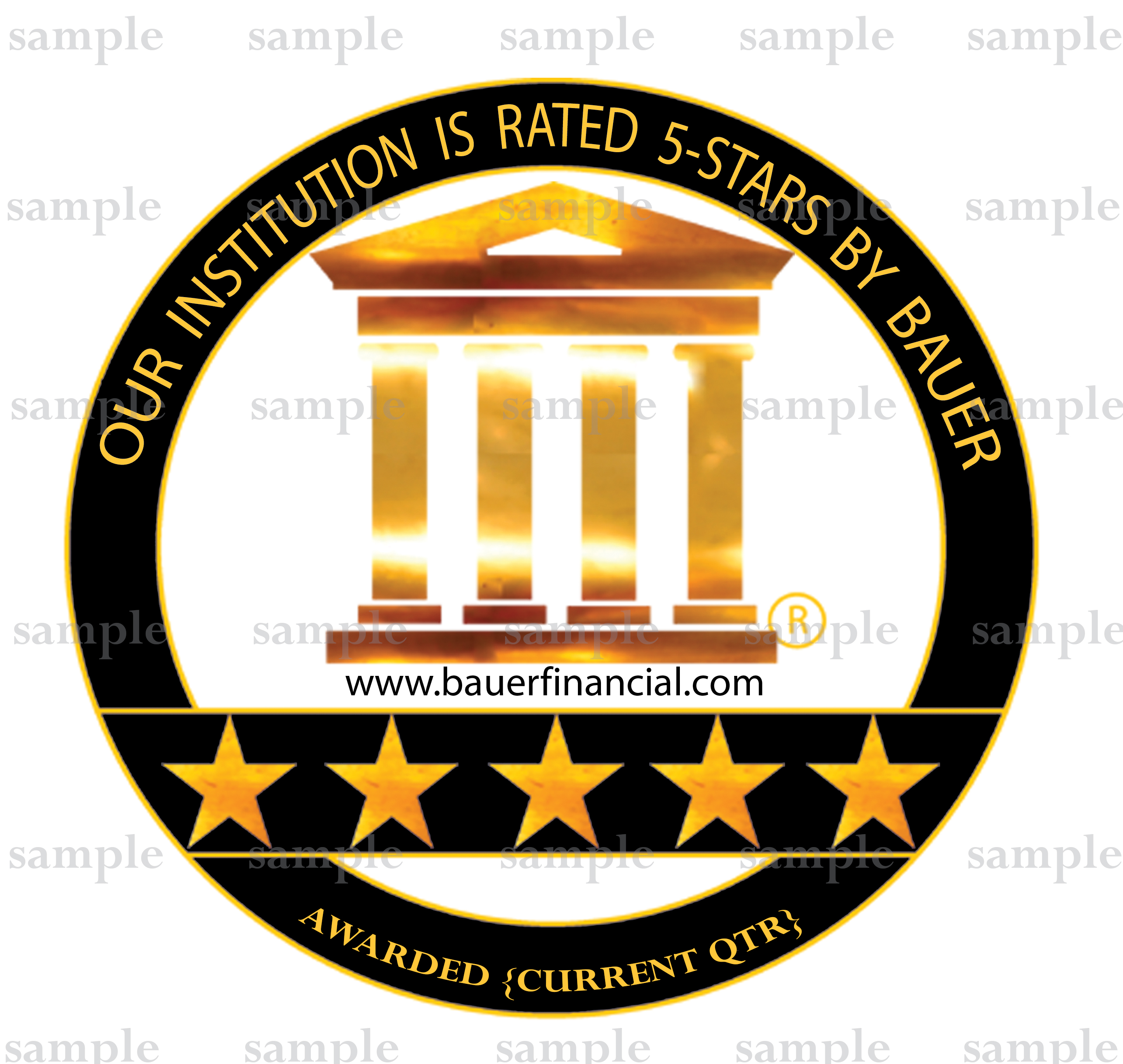 BauerFinancial's 5-Star Logo sample