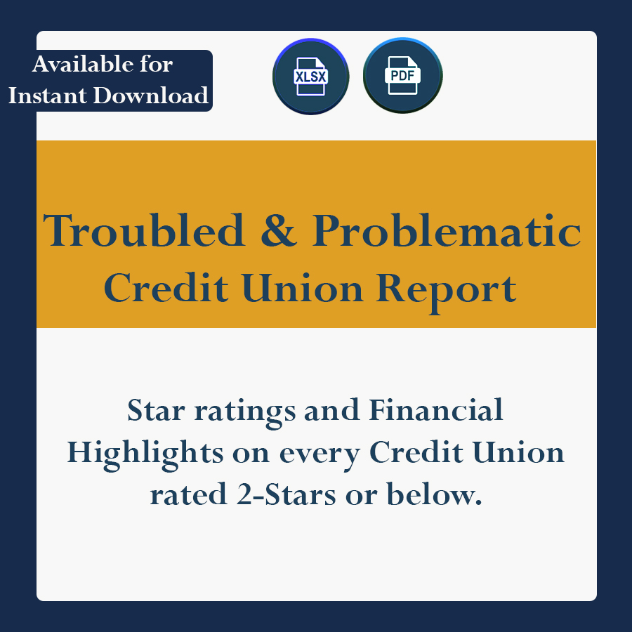 Star Ratings and Financial Highlights on every credit union rated 2-Stars or below.