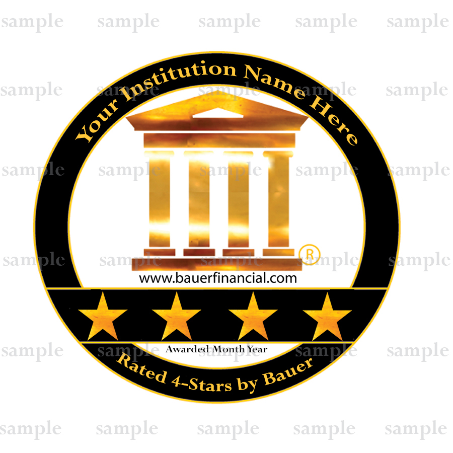 Sample of Bauer's 4-Star Logo that can be personalized for any 4-Star institution
