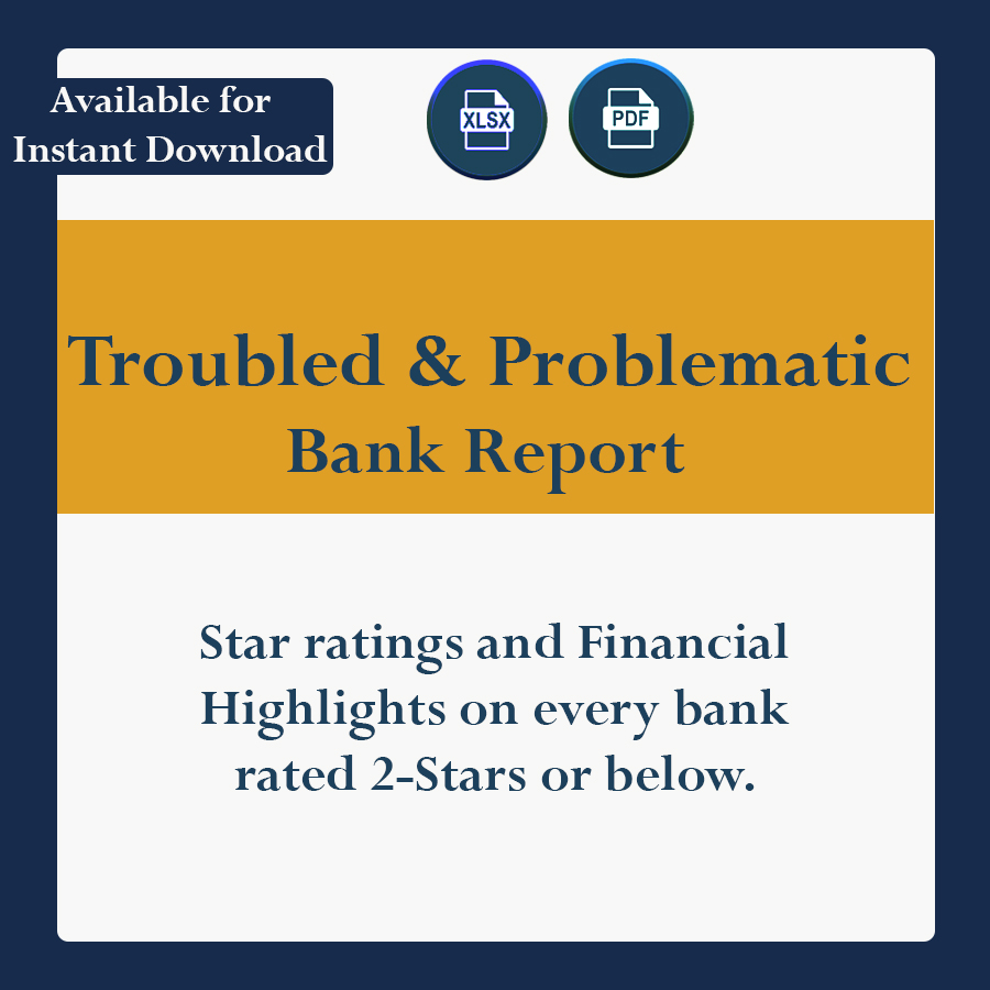 Star Ratings and Financial Highlights on very U.S. Bank rated 2-Stars or Below.