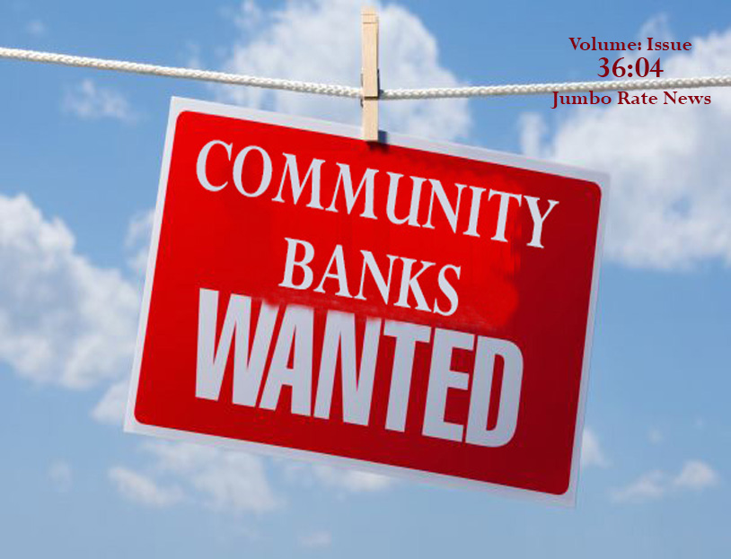 Community Banks Wanted sign hanging from a clothes line