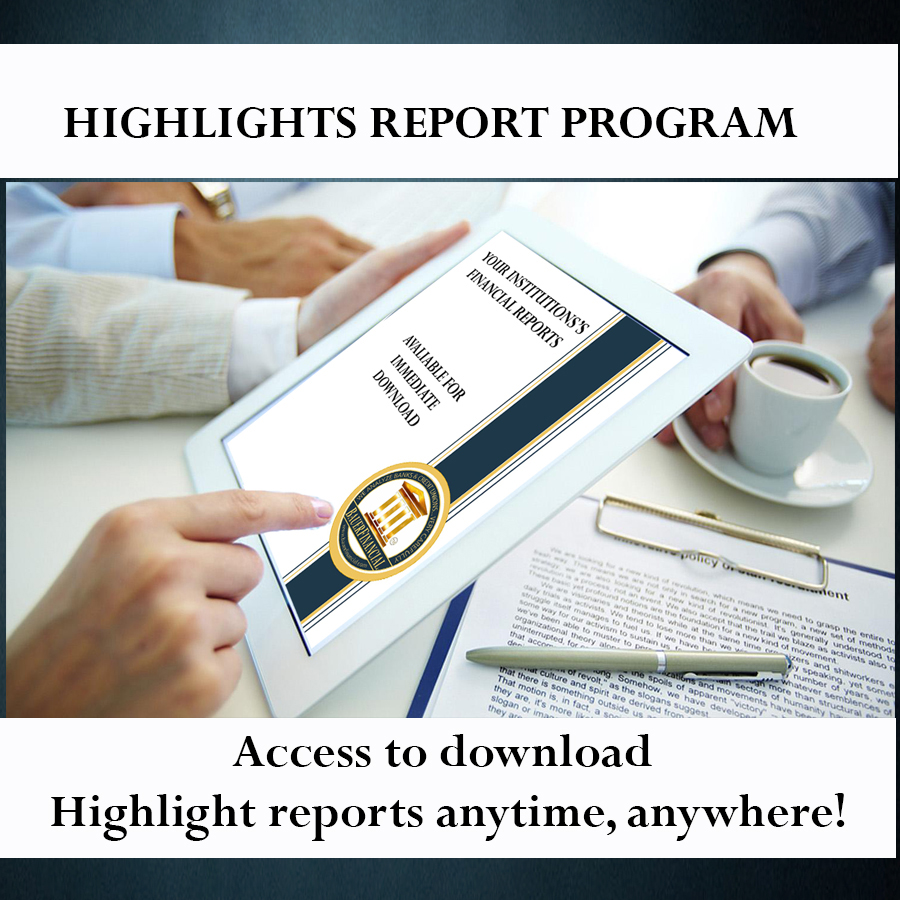 BauerFinancial Highlights Report depicted on a tablet a person is holding