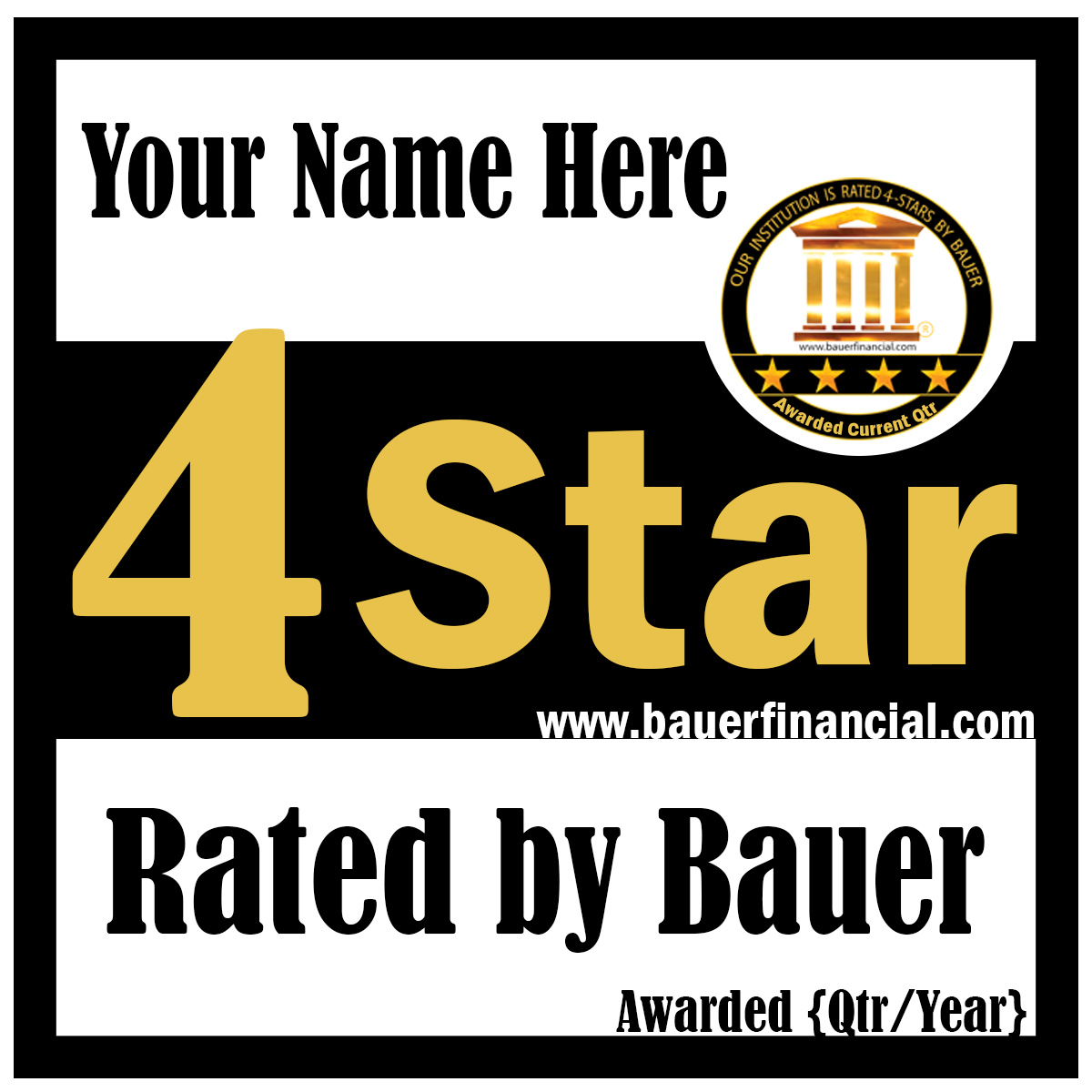 4-Star personalized SQUARE LOGO