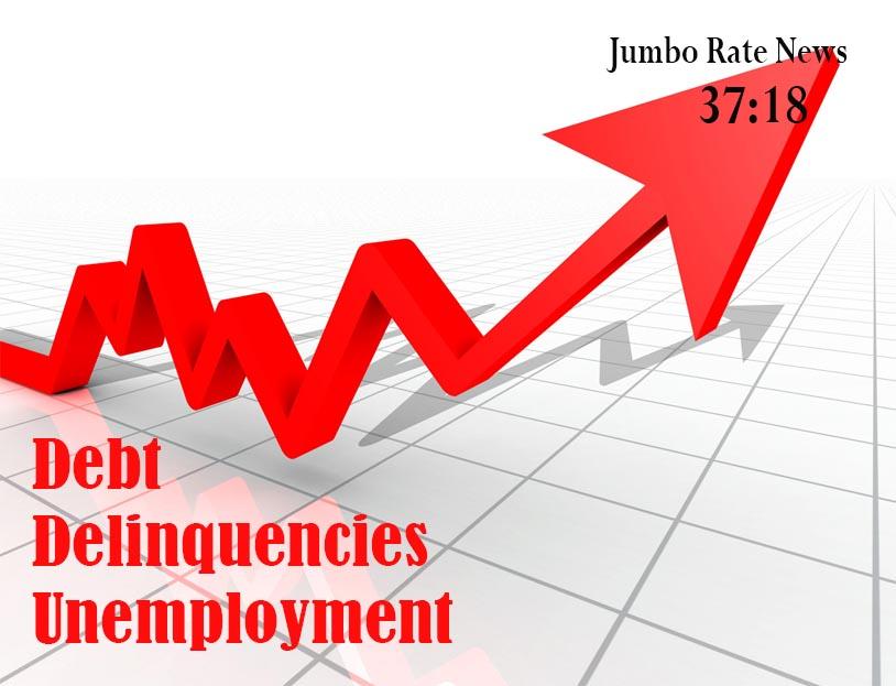 Debt, Delinquencies, Unemployment, All Up