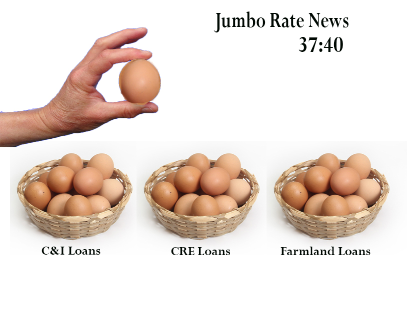 image of eggs in baskets depicting loan distribution