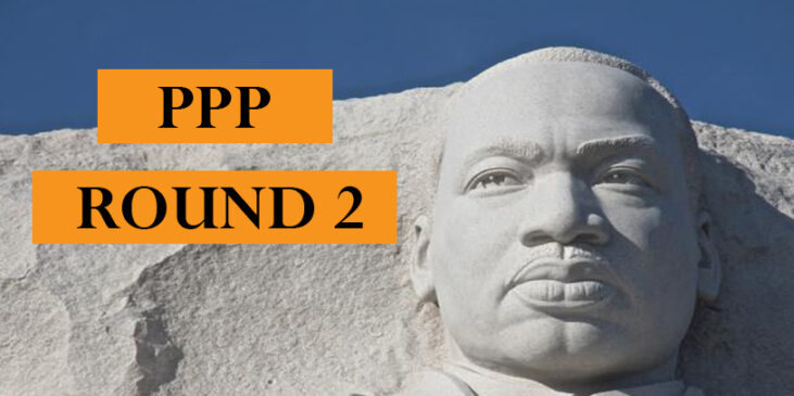 Image of Martin Luther King Monument with PPP Round 2